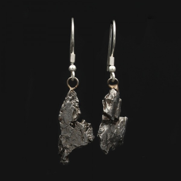 Iron Meteorite Earrings - Campo Del Cielo