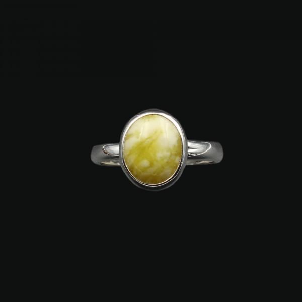 Highland Marmor Silber Ring - Verstellbar