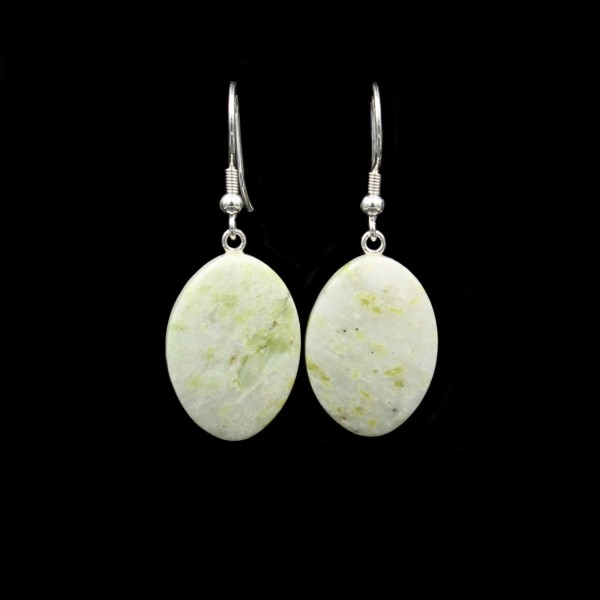 Scottish Iona Marble Earrings - Handmade