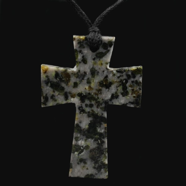 Scottish Iona Marble Cross Pendant