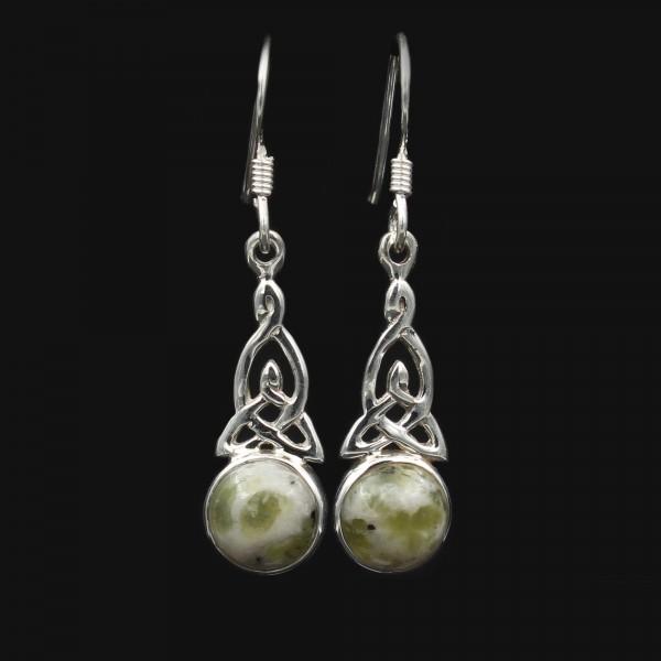 Iona Marmor Keltischer Knoten Silber Ohrringe - Klein