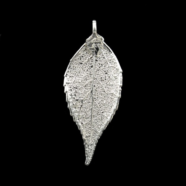 Laurel Leaf Pendant - Silver Plated - Medium