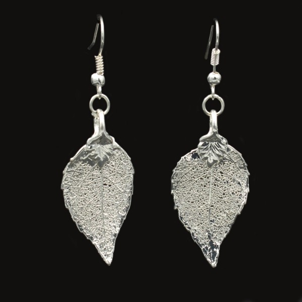 Laurel Leaf Earrings - Silver Plated