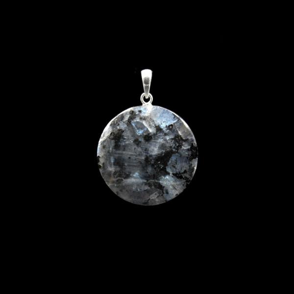 Blue Larvikite Pendant - Small | Handmade