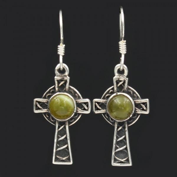 Schottischer Schmuck Ohrringe keltisches Kreuz Silber