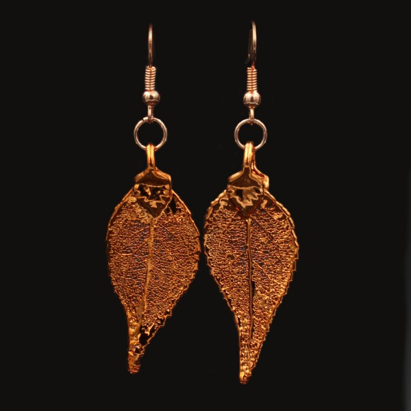 Laurel Leaf Earrings - Copper Plated