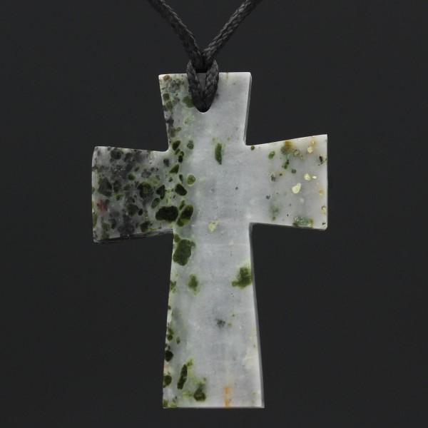Schottischer Iona Marmor Kreuz Anhänger - Unikat 2