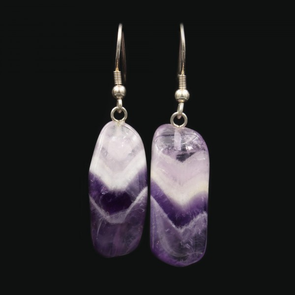 Chevron Amethyst Earrings