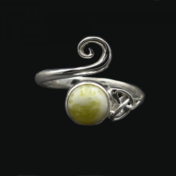 Iona Marmor Keltischer Wirbel Ring - Verstellbar