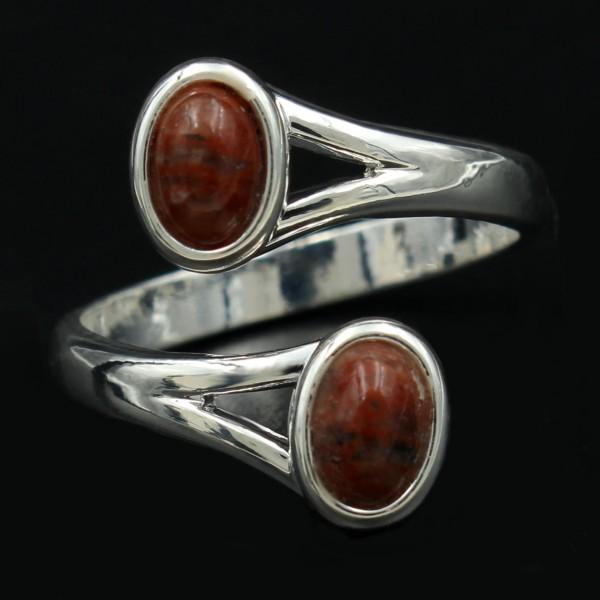 Schottischer Lewisian Doppelstein Ring