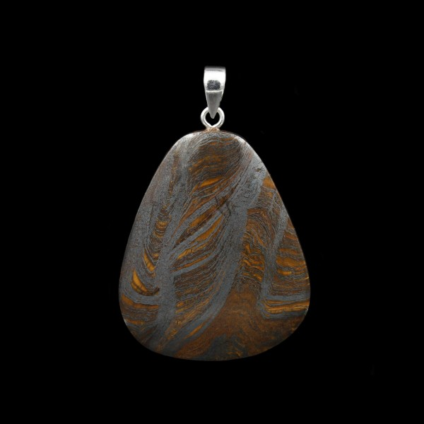Tiger Iron Pendant - Handmade