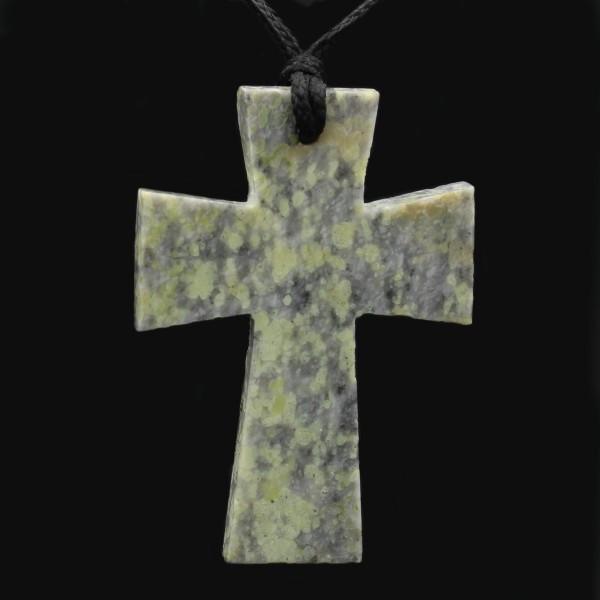 Scottish Iona Marble Cross Pendant