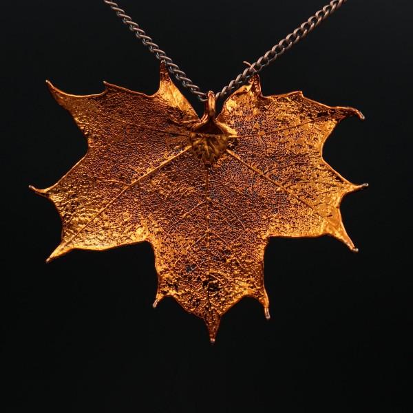 Kanadischer Ahorn Anhänger Kupfer - Unikat 1