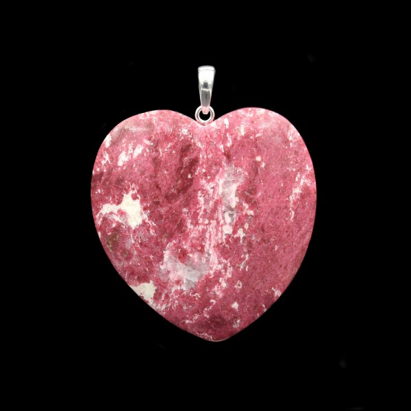 Norwegian Thulite Heart Pendant - Handmade