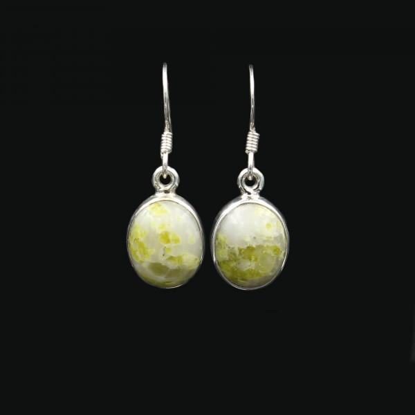 Schottischer Iona Marmor Silber Ohrringe