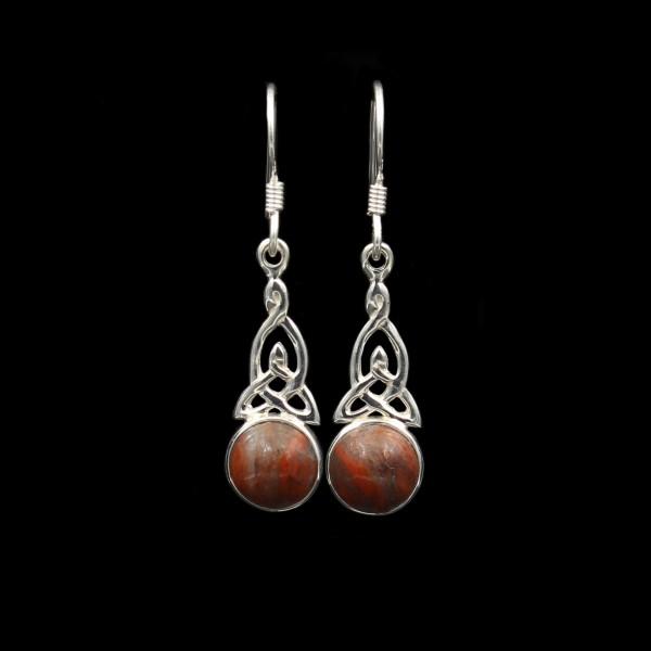 Keltischer Knoten Silber Ohrringe - Klein