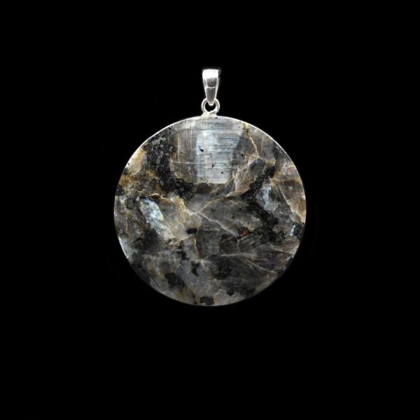 Blue Larvikite Pendant - Large | Handmade