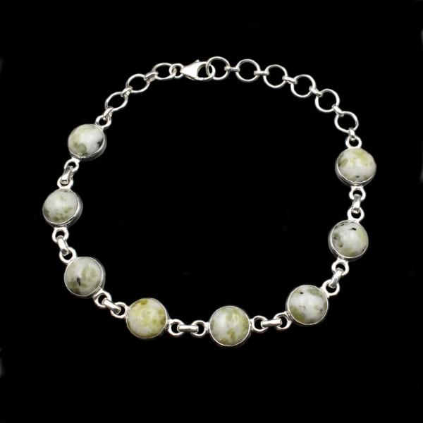 Schottischer Iona Marmor Silber Armband
