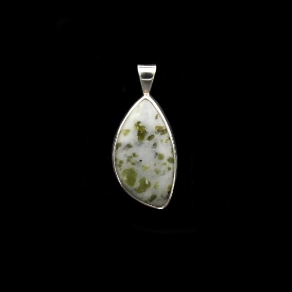 Scottish Iona Marble Silver Pendant