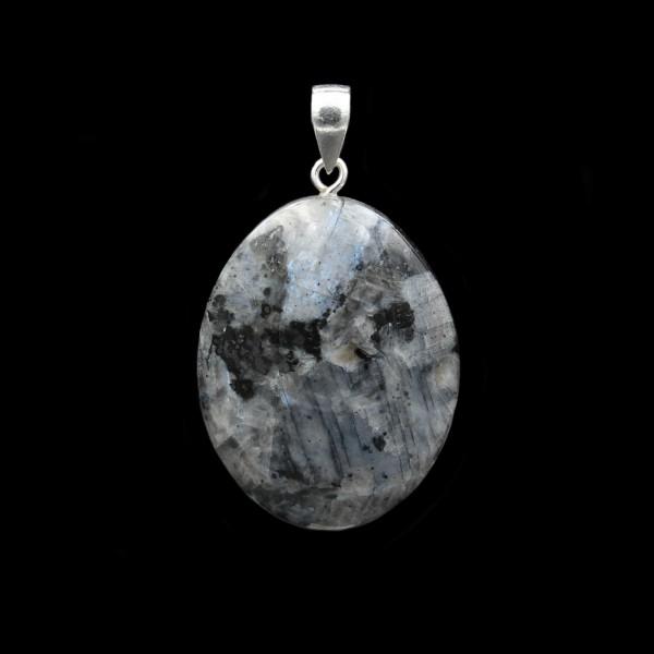 Larvikit / Blue Pearl Granit Anhänger - Handarbeit
