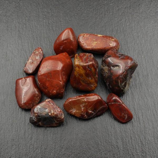 10x Roter Hämatit Jaspis vom Rhein - Trommelsteine