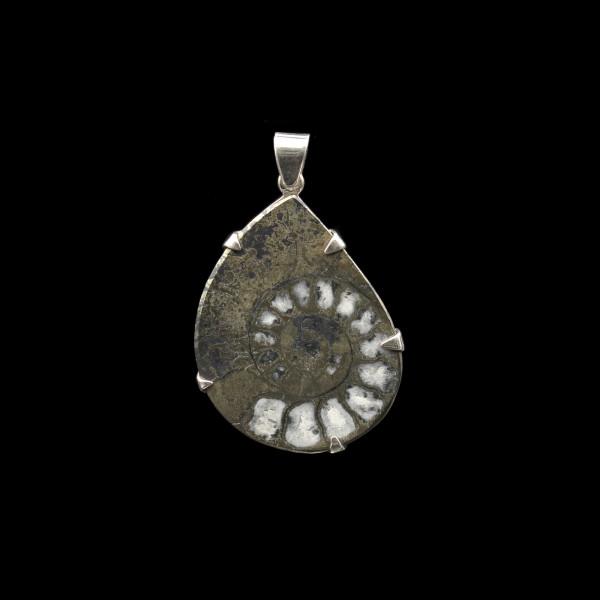 Ammonit Pyrit Anhänger - Unikat
