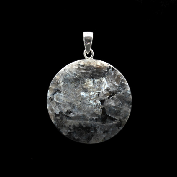 Blue Larvikite Pendant - Medium | Handmade