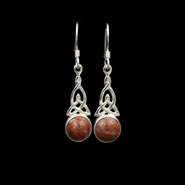 Celtic Trinity Knot Silver Earrings - Small