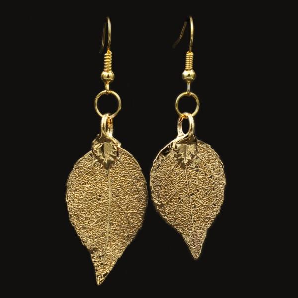 Laurel Leaf Earrings - Gold Plated