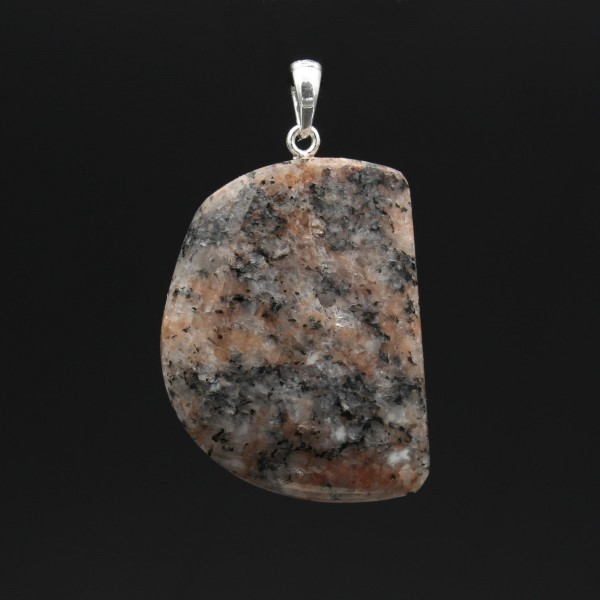Red Granite Pendant - Handmade