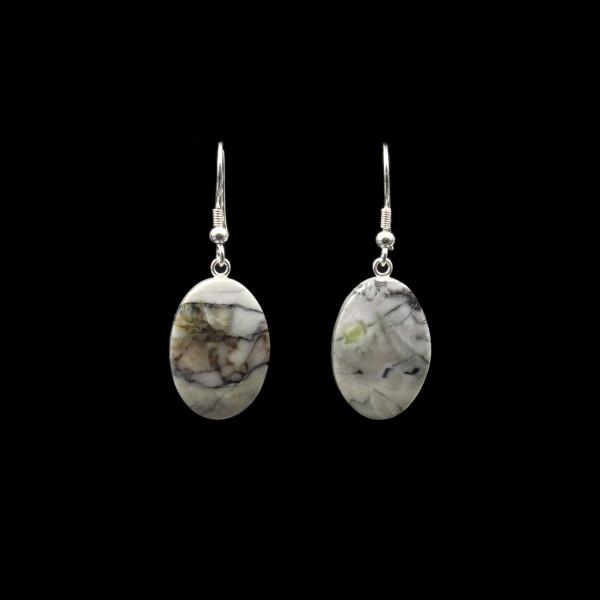 Schottischer Skye Marmor Ohrringe - Handarbeit