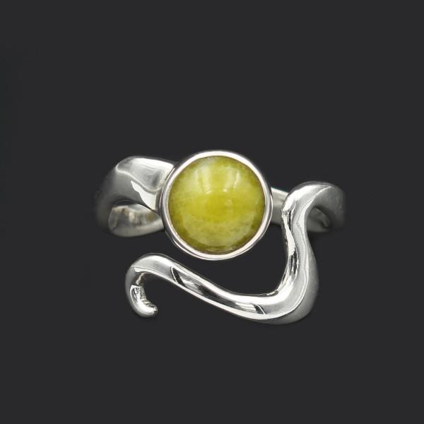 Wellenform Ring - Silber - Verstellbar
