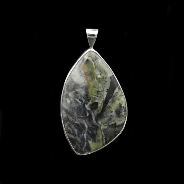 Skye Marble Silver Pendant - Large