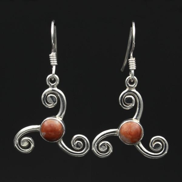 Lewisan Silber Ohrringe Keltische Triskele