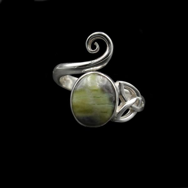 Celtic Swirl Silver Ring - Adjustable
