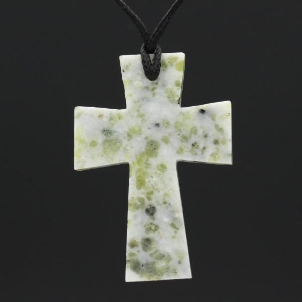 Schottischer Iona Marmor Kreuz Anhänger - Unikat 3