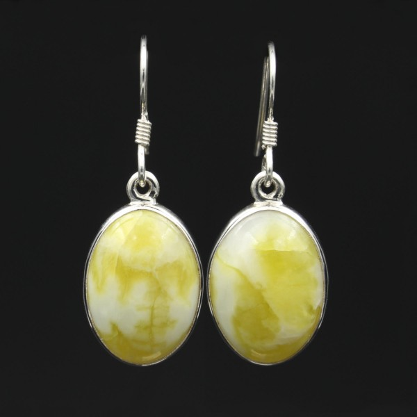 Scottish Highland Marble Silver Drop Earrings