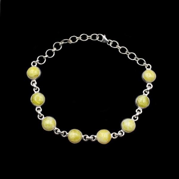 Scottish Highland Marble Silver Bracelet - Adjustable