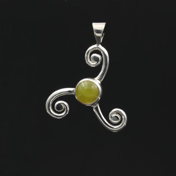 Highland Marmor Anhänger Keltische Triskele Silber