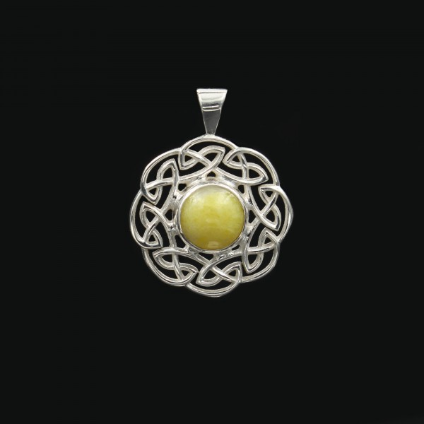 Highland Marble Celtic Sun Silver Pendant