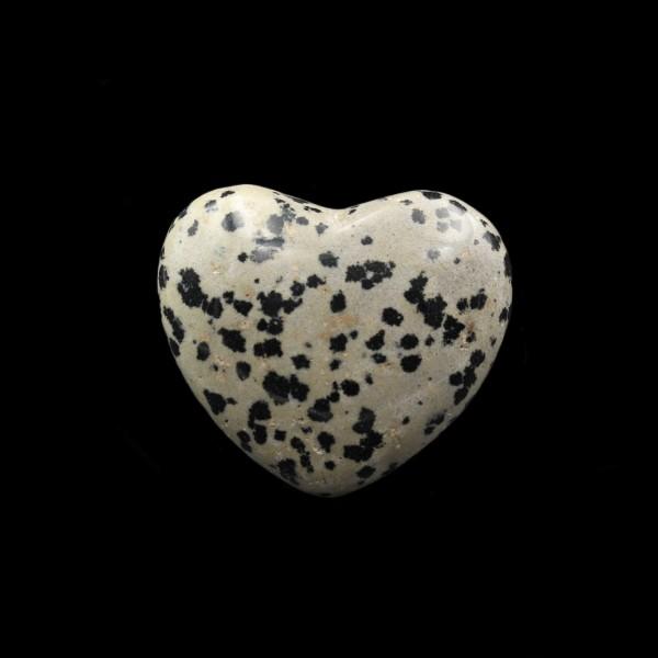 Dalmatian Jasper Heart - Palm Stone