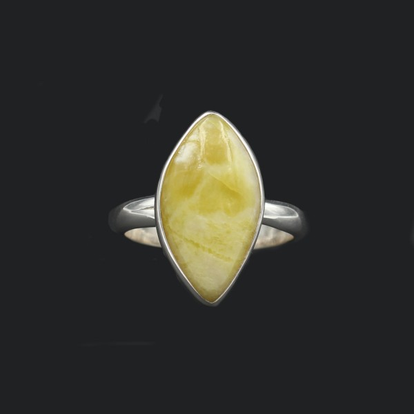 Scottish Highland Marble Freeform Silver Ring