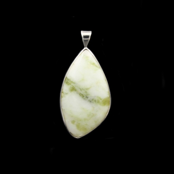 Scottish Iona Marble Silver Pendant - Large