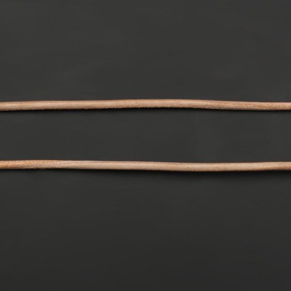 Lederband aus Ziegenleder - Natur - 1 m