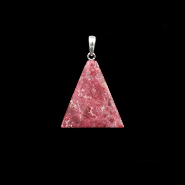 Norwegian Thulite Triangle Pendant - Handmade