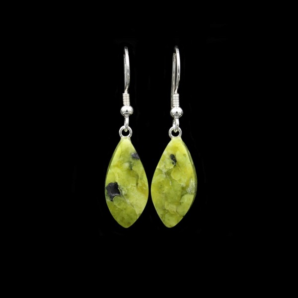 Norwegian Lizardite Earrings - Handmade