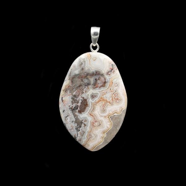 Crazy Lace Agate Pendant - Handmade
