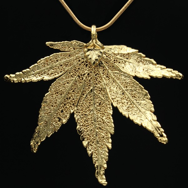 Japanischer Ahorn Anhänger Gold - Unikat 1