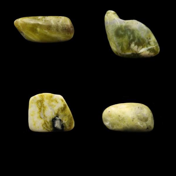 Schottischer Grüner Marmor Trommelstein - Klein