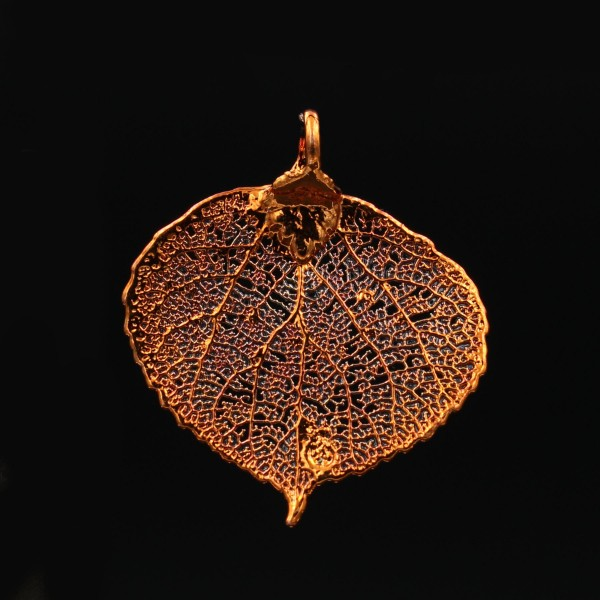 Aspen Leaf Pendant - Red Copper Plated